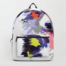 Artistic Border Collie print Gift Art Splash Border Collie Backpack