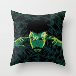 Mind-control powers in good use Throw Pillow