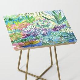 Tropical Garden Watercolor Side Table
