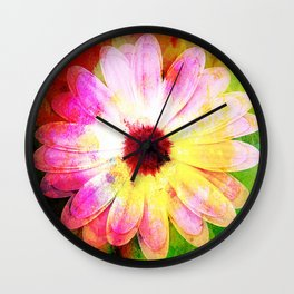 Making art with flower - original Wall Clock