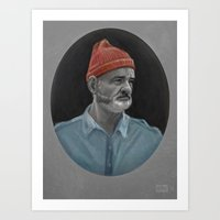 bill murray Art Prints featuring Bill Murray by Thomas J. Moore