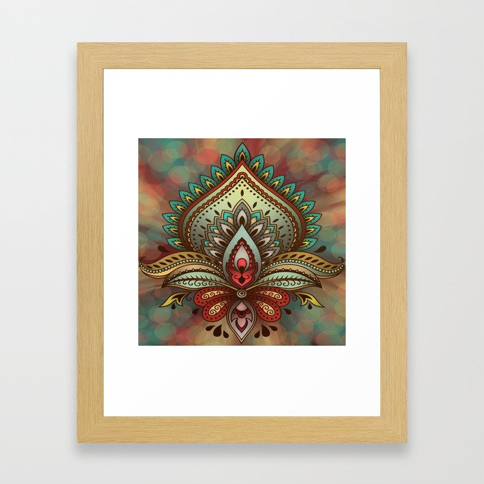 Beautiful Symbolic Design Framed Art Print
