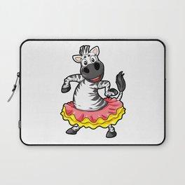 Dancing Zebra Tutu Ballet Disco Cartoon Present Laptop Sleeve