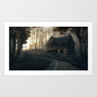 Welcome to the Misty Inn! Art Print