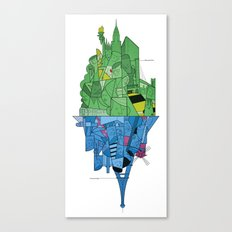 From Paris to New York and back Canvas Print