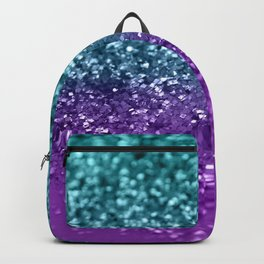 Purple Teal MERMAID Girls Glitter #1 #shiny #decor #art #society6 Backpack