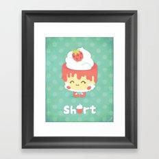 Strawberry Short Cake Framed Art Print
