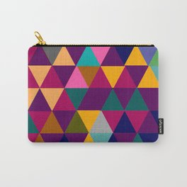 Multicolor triangle shapes pattern Carry-All Pouch