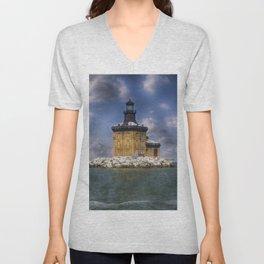 Toledo Harbor Light Unisex V-Neck