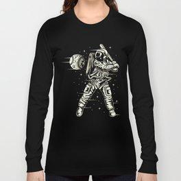 Space Baseball Astronaut Long Sleeve T-shirt