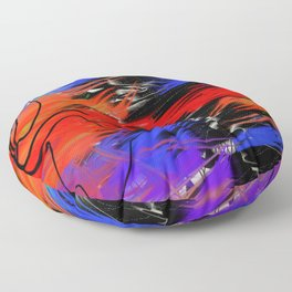 Abstract Urban Art Floor Pillow