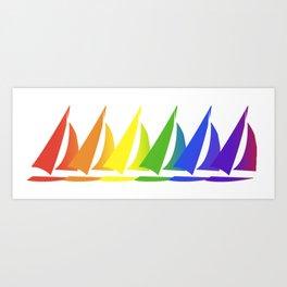 United We Sail Art Print