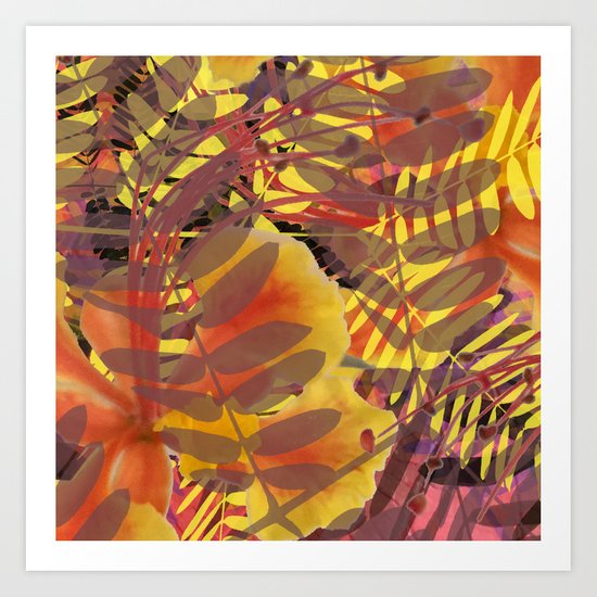 Autumn Tropical Vibe Art Print