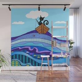 Cat  Fishing Wall Mural
