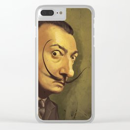 SALVADOR DALI ROYAL CARICATURE Clear iPhone Case
