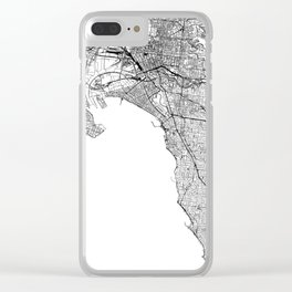 Melbourne White Map Clear iPhone Case