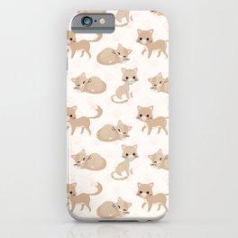 Ragdoll Cats Pattern – Cream Paw Print Background iPhone Case