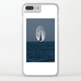 Full Moon Sailing Clear iPhone Case