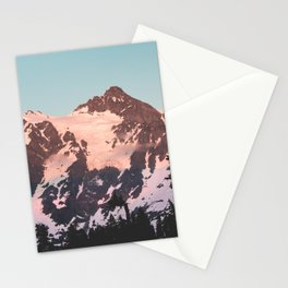 Pink Cascade Mountain Stationery Cards