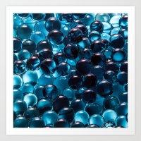 bubbles Art Prints featuring Bubbles by Kristina Jovanova