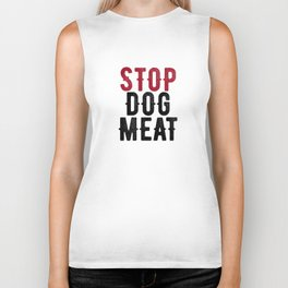 Stop Dog Meat Protest Biker Tank
