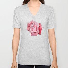 Perfume Delight - Pink Tea Rose Art Unisex V-Neck
