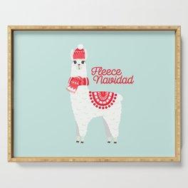 Fleece Navidad Alpaca Serving Tray