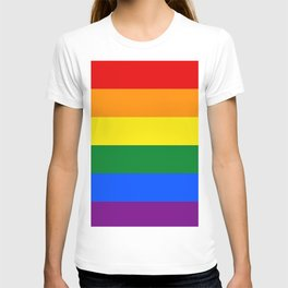 Pride rainbow flag T-shirt