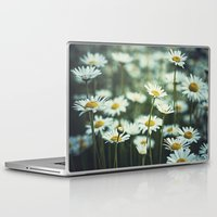 daisies Laptop & iPad Skins featuring daisies by Bonnie Jakobsen-Martin