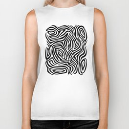 Zebra Stripes Biker Tank