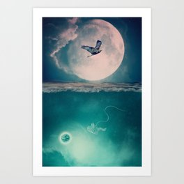 Lunar Mare by GEN Z Art Print