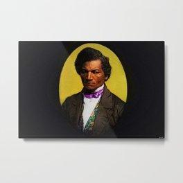 African American Portrait 'Frederick Douglas' by Jeanpaul Ferro Metal Print