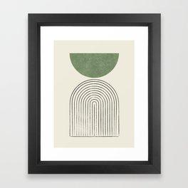 Arch balance green Framed Art Print