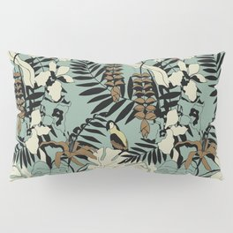 Modern Jungle Rain Forest Minimalist Parrot Pillow Sham