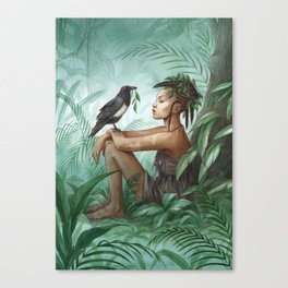 Kadiatou ~ A Compendium Of Witches Canvas Print