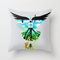 dream catcher Throw Pillows featuring Dream Catcher by Enkel Dika