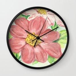 Dahlia Seed Packet Wall Clock