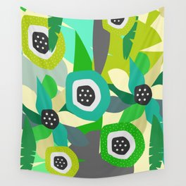 Bright tropical vibe Wall Tapestry