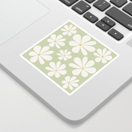 Floral Daisy Pattern - Green Sticker