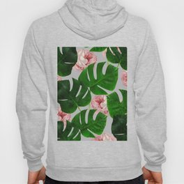 Monstera & Rose Pattern #society6 #decor #buyart Hoody