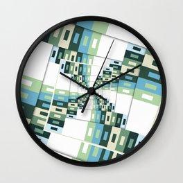 Retro Geometric Rotation Wall Clock