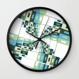 Retro Geometric Rotation Wall Clock
