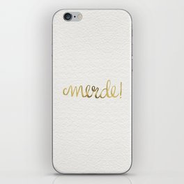 Pardon My French – Gold Ink iPhone Skin