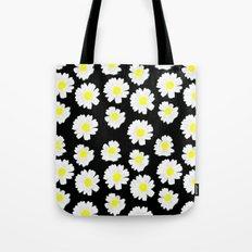 Flowering On Black Tote Bag