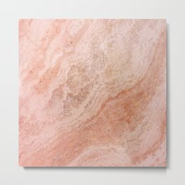 Polished Rose Gold Marble Metal Print