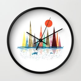 Turtle mountains Wall Clock