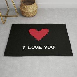 I love you pixel Rug