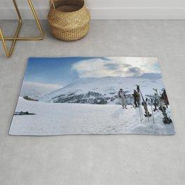Ski Resort Mountain Landscape Rug