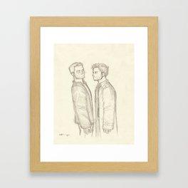 Dean & Cas Framed Art Print