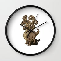 hydra Wall Clocks featuring Hydra by Jada Fitch